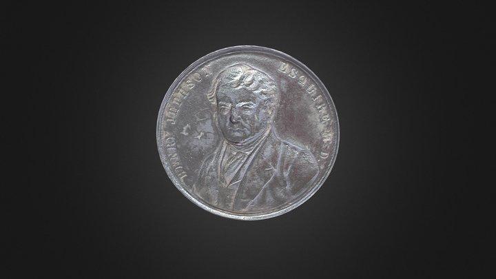 Jephsons Gardens Medal (1846) 3D Model