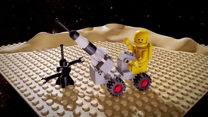 LEGO 6802-1: Space Probe 3D Model
