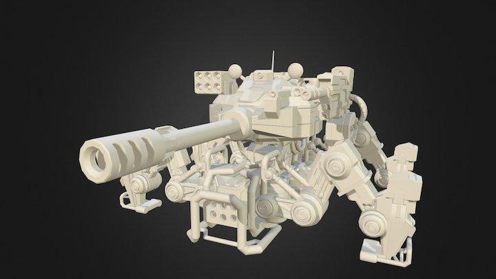Mech Walker Drone 3D Model