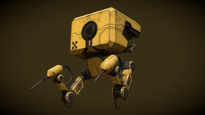 Robot Animated 3D Model