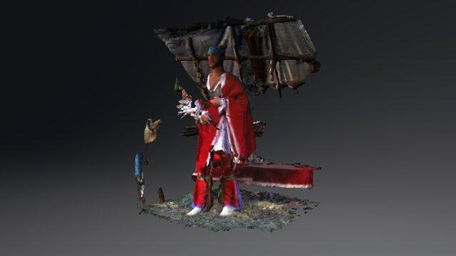 Jeremy Turner, Shawnee. 3D Model