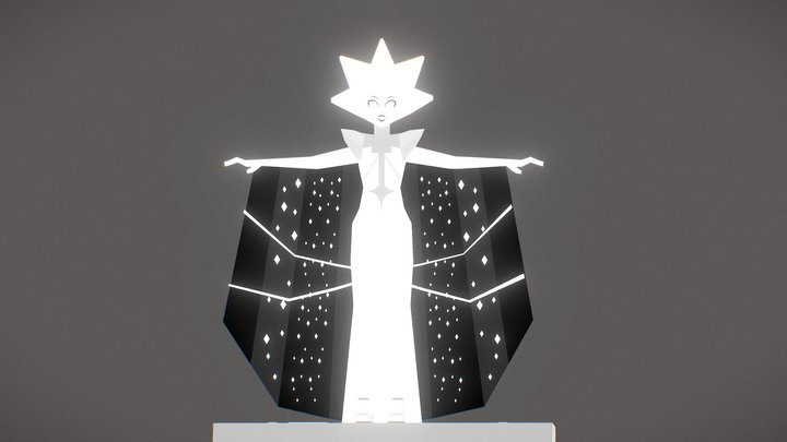 White Diamond (Low poly) 3D Model