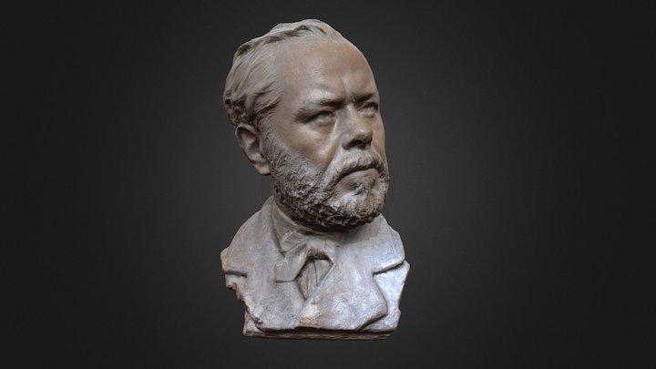 Mezzo busto di Filippo Palizzi 3D Model