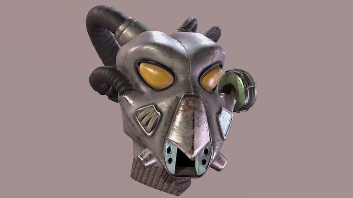 Fallout: Advanced Power Armor Helmet 3D Model