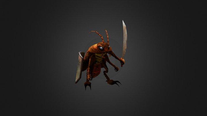 Cockroach Warrior 3D Model