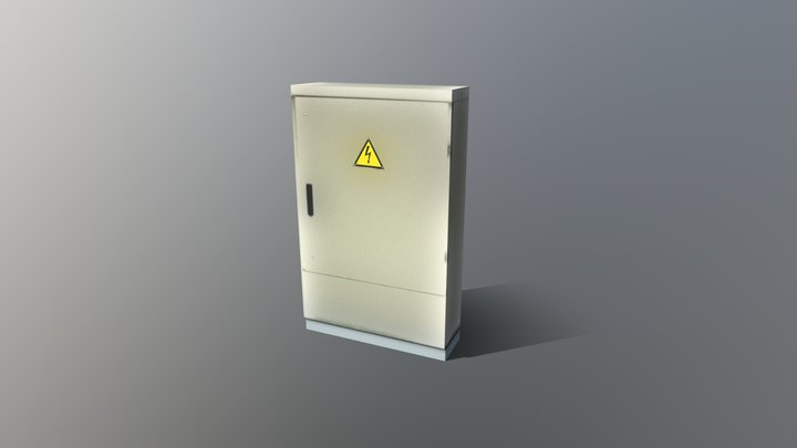 Transformer Box Vertical 3D Model
