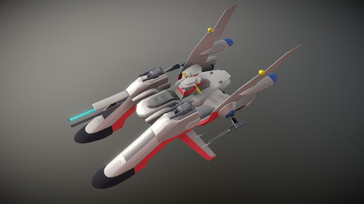 Draft of the Archangel starship 3D Model