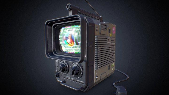 Vintage Television - Panasonic TR-555 3D Model