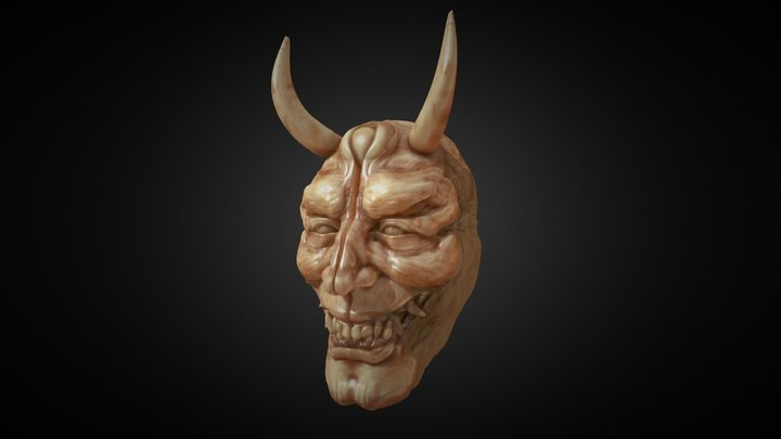 Oni Netsuke 3D Model