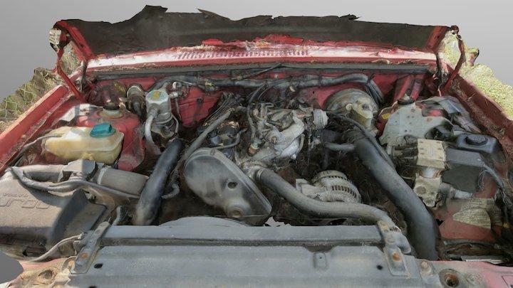 1993 Volvo 940 Turbo engine 3D Model