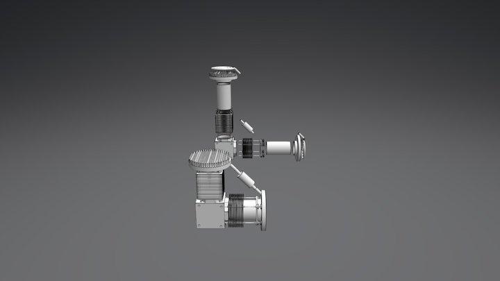 Stirling V2 3D Model