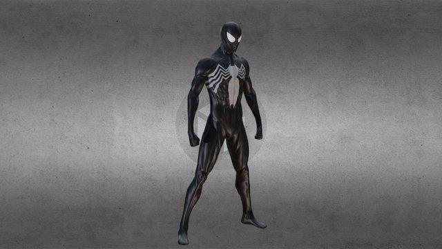 Spiderman with black suit-fan art 3D Model