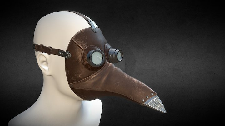 Máscara Peste Negra Estilizada 3D Model