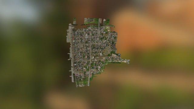 Canoa Ecuador Simplified 3d Mesh 3D Model