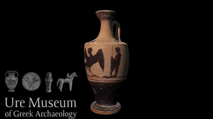 Attic Black Figure Lekythos 3D Model