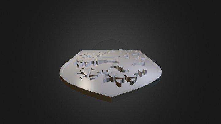 Blason Lion Des Flandres 3D Model