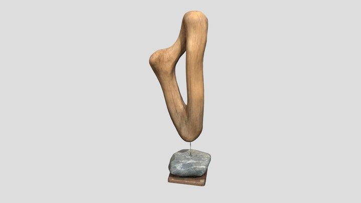 Hölzerne Harfe 3D Model