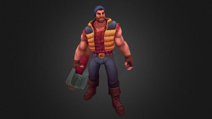 Lumberjack Darius - Riot Contest 2017 3D Model
