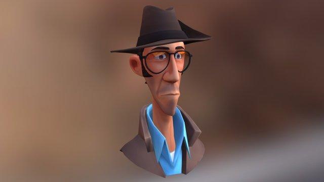 Toon Sniper 3D Model