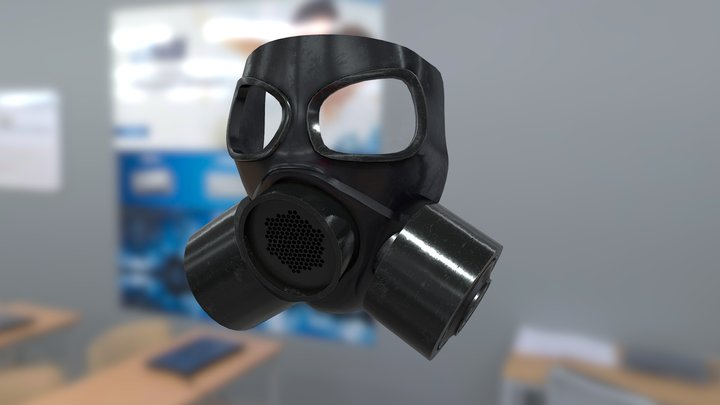 Military Gas Mask 3D Model