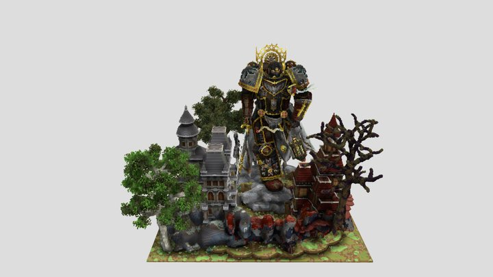 Minecraft Warhammer40K oversized recreation 3D Model