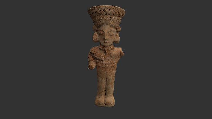 Estatuilla Funeraria Púnica (s.IV - III a.C.) 3D Model