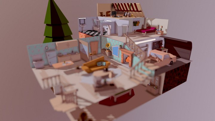 Isometric House 3D Model