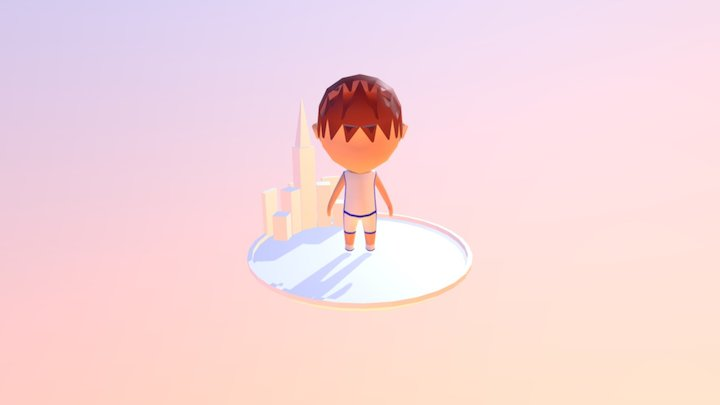 Jersey Character 3D Model