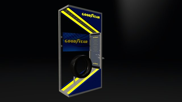 COMM TRUCK TIRE STAND C 3D Model