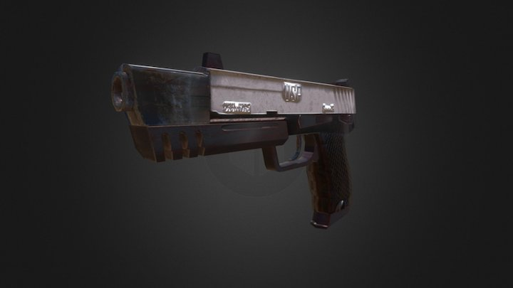 GUN Tomb Raider 3D Model