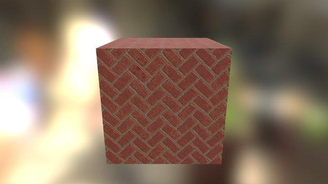 Herringbone bricks 3D Model