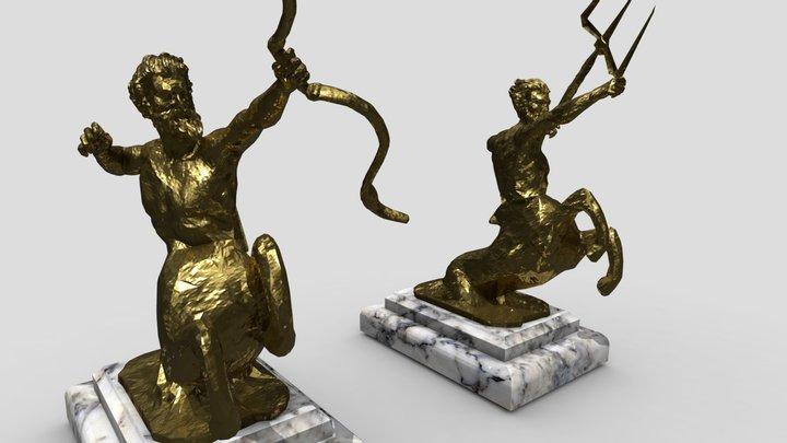 Nergal/Sagittarius & Poseidon (Centaur Statues) 3D Model