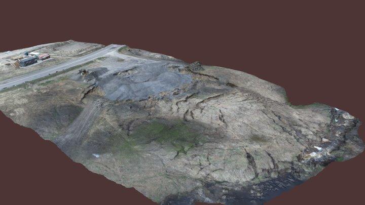 Landslide near Nurme bridge 04.05.17 3D Model