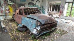 Post-Apocalyptic Russian car [GAZ 21 | Raw scan] 3D Model
