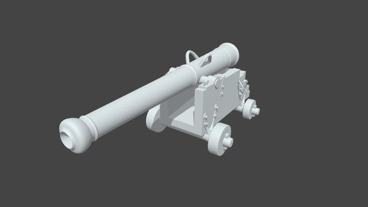 High Resolution Cannon 3D Model