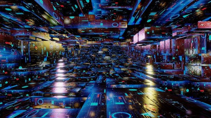 Grid City 3D Model