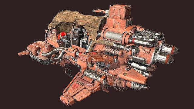 Sand Slicer Tank 3D Model