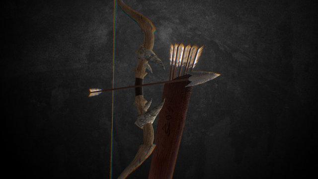 Bow + Arrows 3D Model