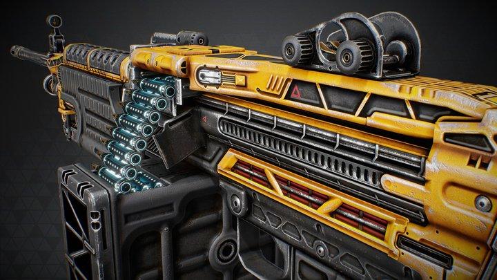 M249 :: Fusion Drive (CS:GO workshop skin) 3D Model