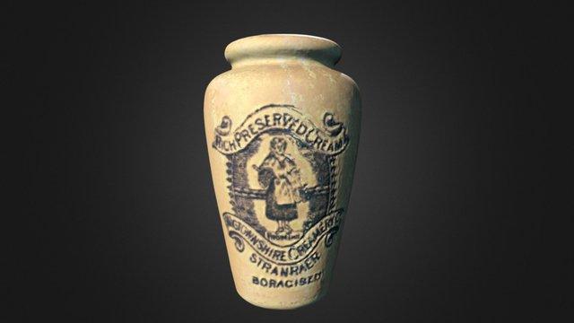 Ceramic Cream Preserve Pot 3D Model