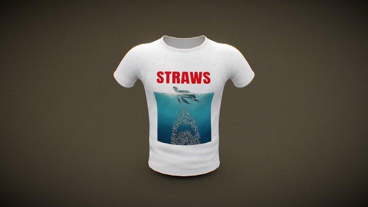 Straws- Shirt 3D Model