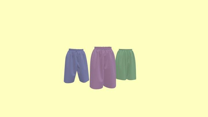 Culotte Skirt キュロットスカートとゴムパンツ 3D Model