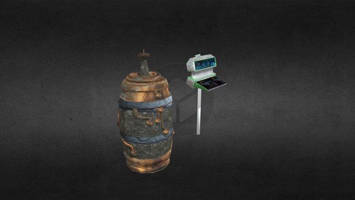 Barrel in Armageddon 3D Model