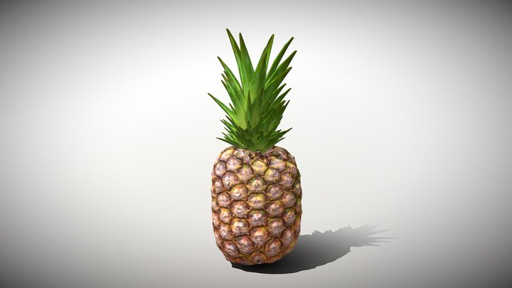 Exotic Fruit Pineapple - Photoscanned PBR 3D Model
