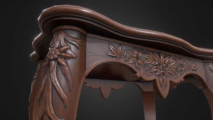 Small Victorian Table 3D Model