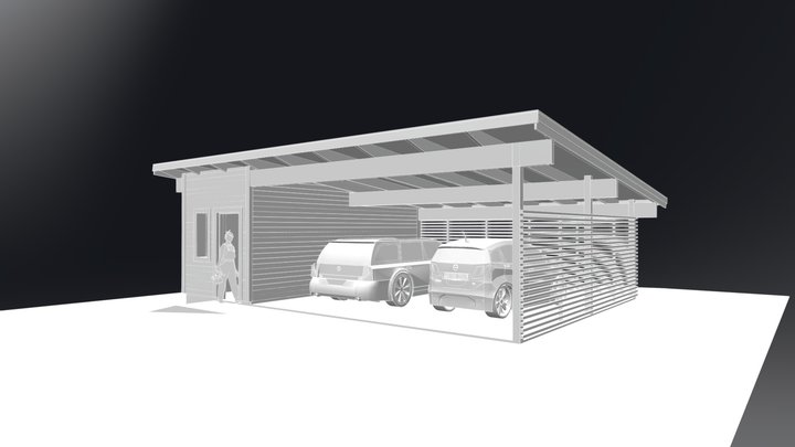 Carport-forrad-2 3D Model