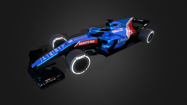 F1 Alpine 3D Model