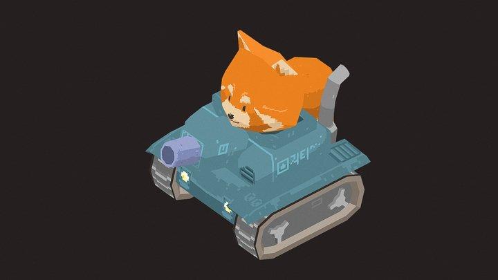 Tank RedPanda 3D Model
