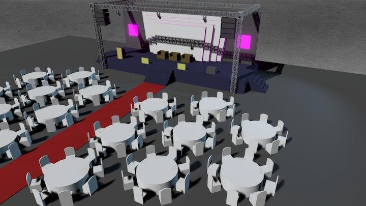 VIP Dinner Event 3D Model