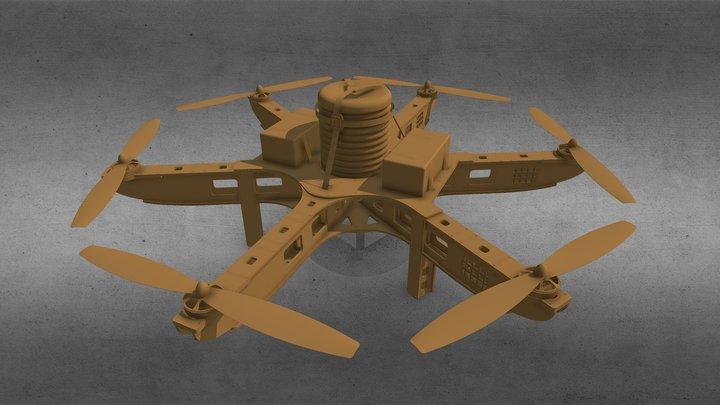 Dronecoria V6 Drone for aerial seeding. 3D Model